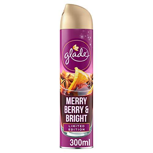 Glade Lufterfrischer, Aerosol-Spray, Merry Berry & Bright_321370S, 300 ml