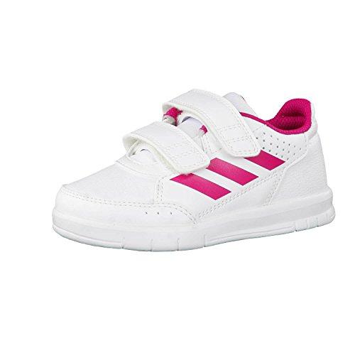 adidas Altasport CF I, Alpargatas Unisex niños, Blanco (White/Pink), 25 EU