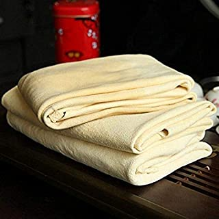 Trainshow Car Drying Natural Chamois Cleaning Cloth Premium Genuine Deerskin Leather Towel Auto Car Washing Precision Instrument 3-Pack 2-Pack 1-Pack (12.6''X20'' (3-Pack))