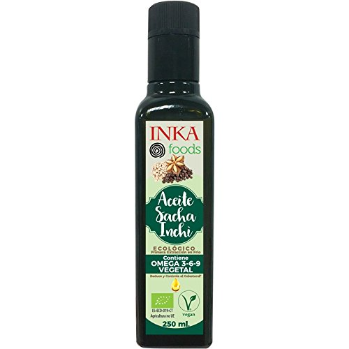 Aceite de SACHA INCHI, BIO, 93% omega 3-6-9 vegetal. Bot. 250mL