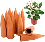 Finderomend 10 Pack Plant Watering Stakes10 Pack Automatic Plant Waterers for Vacations, Indoor Plant Watering Device Terracotta Watering Spikes Self Watering for Wine Bottles