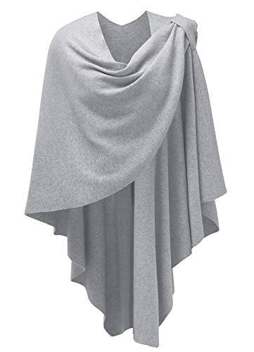 PULI Damen Poncho Schal mit Kaschmir fühlen Strick Cape Cardigan für Frauen Geschenk für Mutter