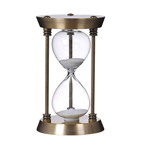 Bellaware Hourglass Timer, 30 Minutes Metal Sand Timer, Copper Sand Cl
