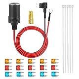 Uayasily Universal Dash CAM Hardwire Kit Dash Cable Cap con Mini/Micro Port 5a 10a 15a Caja De Fusibles Recorder Automóvil Dash CAM Kit De Alambre Duro para Dash CAM Adaptador De Corriente