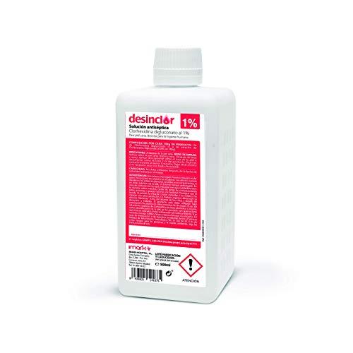 Solución Acuosa Coloreada Clorhexidina 1%, Limpieza de Mano