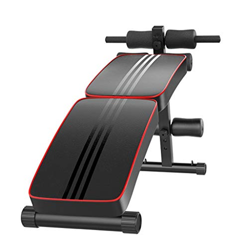 Sixpi Home Gym Foldable Decline Sit up Bench, Adjustable Weight Bench Workout Abs Benchs for Bench Press, Sit-ups, Leg Lifts, Dumbbell Curls, Full Body Fitness (US Stock)