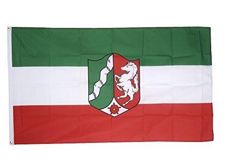 Flaggenfritze Fahne/Flagge Deutschland Nordrhein Westfalen - 150 x 250 cm + gratis Sticker, XXL-Fahne