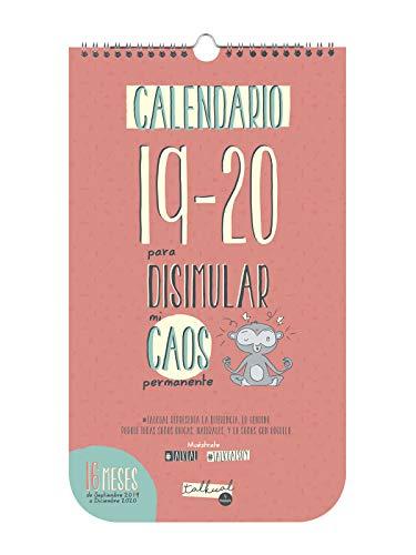 Finocam - Calendario de pared Talkual 2019-2020 Caos español