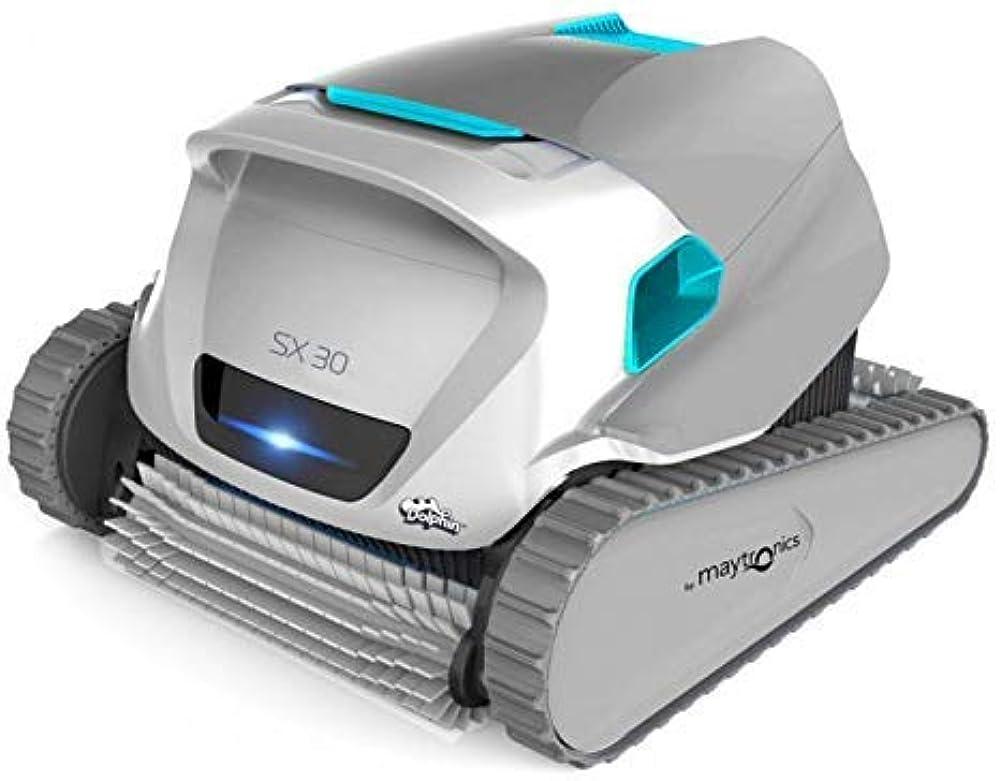 Dolphin, robot  maytronics sx 30,pulitore per piscine, pulizia fondo, pareti e linea di galleggiamento MAY-200-019