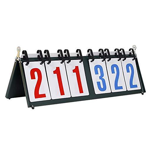 MHSHTY Tabellone Segnapunti 6 cifre Competizioni Sportive Quadro di valutazione, per Il Baseball Calciatore Pallavolo Pallacanestro Tabellone segnapunti Classico da Tavolo