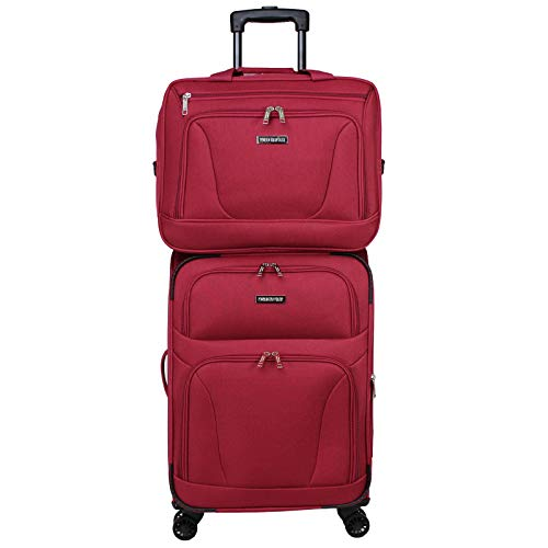 World Traveler Embarque Lightweight 2-PC Carry-On Luggage Set, Burgundy, One_Size