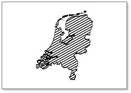 Nederland Map Outline - Koelkast Magnet