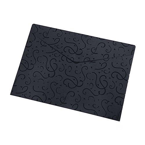 Plastique Poly enveloppe avec fermeture Velcro des dossiers A4, Lot de 10 noir ⭐