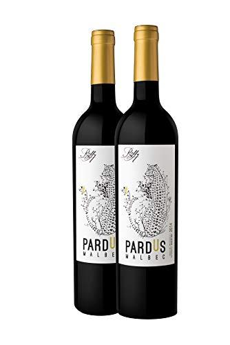 2 botellas de vino tinto Pardus malbec 2015 de Bodega Raffy.