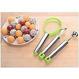 WFHhsxfh 2 Set/Lotto in Acciaio Inox scavapatate pelapatate Coltello da Frutta Cucchiaio da Cucina Tre Set Forniture da Cucina Utensili da Cucina (Color : Random Color)
