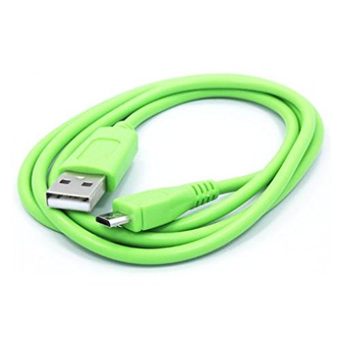 Green 3ft USB Cable Rapid Charger Sync Power Wire Data Cord for Net10 Samsung Galaxy S7 Edge (SM-G935A) - Net10 ZTE Midnight - Net10 ZTE Nubia Mini - Net10 ZTE Quartz - Net10 ZTE Valet
