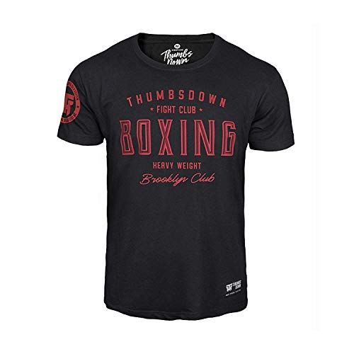 Thumbs Down Boxing Heavy Weight T-Shirt. Brooklyn Fight Club. MMA. Kampfkünste. Gym. Training. Martial Arts. Casual (Größe XLarge)
