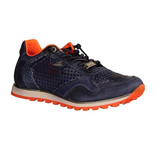 Cetti C-848-V20 - Herren Schuhe Sneaker - nat-t-w-Navy-orange, Größe:46 EU