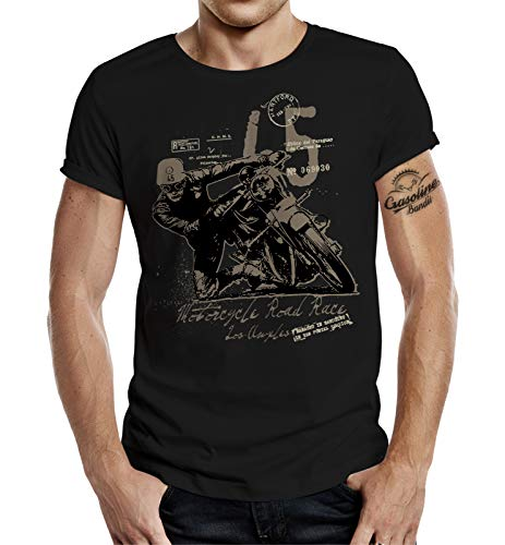 GASOLINE BANDIT Original Biker Racer Diseno Camiseta: Road Race II-XL