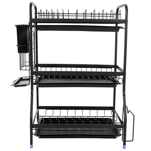 Tableware Rack Dish Drainer Stainless Steel Corrosion Resistance for Fruits Cutlery
