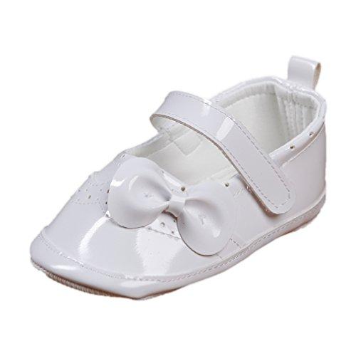 Festliche Babyschuhe Ballerinas weiß Lack Taufschuhe Gr. 20 Modell 4693