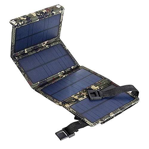 LIAOYUN Cargador Solar Banco de energía Solar portátil, 20W USB Panel Solar Banco de energía Plegable Cargador de batería para Acampar al Aire Libre LIAOYUN