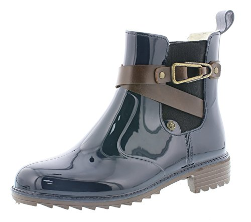 Rieker Damen Chelsea Boots P8161,Frauen Stiefel,Halbstiefel,Stiefelette,Bootie,Schlupfstiefel,hoch,Blockabsatz 3.5cm,Navy/testadimoro/Kastanie, EU 37