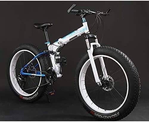 WYJW Bicicleta de montaña Plegable, Bicicletas MBT de Doble suspensión y neumáticos...