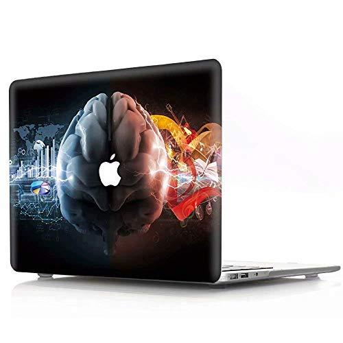 AJYX Funda MacBook Pro 13 2018/2017/2016, Carcasa Rígida Protector de Plástico Cubierta Case para MacBook Pro 13.3 Pulgadas con/sin Touch Bar Modelo A1989/A1708/A1706, CY Cerebro Creativo