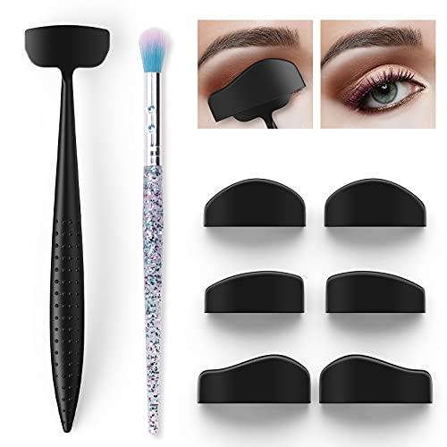 Sombras de Ojos en Forma de Silicona, Splaks 6 en 1 Kit de Línea de Pliegue, Kit Maquillaje Fijador de Sombras de Ojos Perezosos, Reutilizables Portátil Herramientas de sombra de ojos