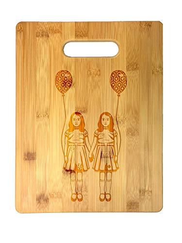 Creepy Scary Hallway Twins Horror Film Movie Parody Laser Engraved Bamboo Cutting Board - Wedding, Housewarming, Anniversary, Birthday, Father's Day, Gift