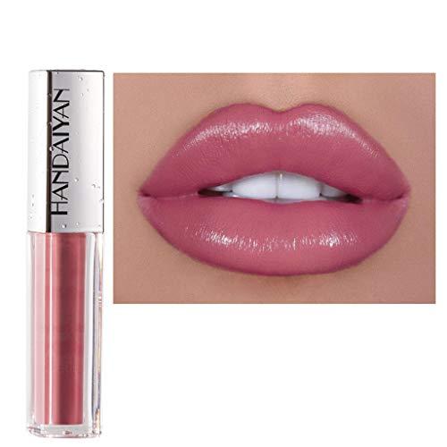 Lippenstift,2030 Matt Wasserfest Göttin lippenstift langanhaltende Lippenwäsche-flüssiger Lippenstift-wasserdichter Lippenglanz-Make-up