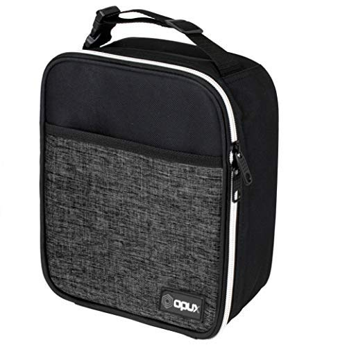 OPUX Premium Insulated Lunch Box  Soft Leakproof School Lunch Bag for Kids Boys Girls  Durable Reusable Work Lunch Pail Cooler for Adult Men Women Office Fits 6 Cans Heather Charcoal