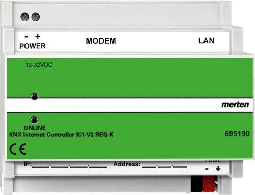 Merten 695190 KNX Internet Controller IC1-V2 REG-K, merten@home, ohne Modem, lichtgrau