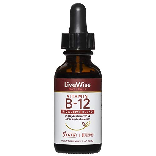 Liquid B12 Vitamin Sublingual – All-Natural Liquid Vitamin Vegan B12...