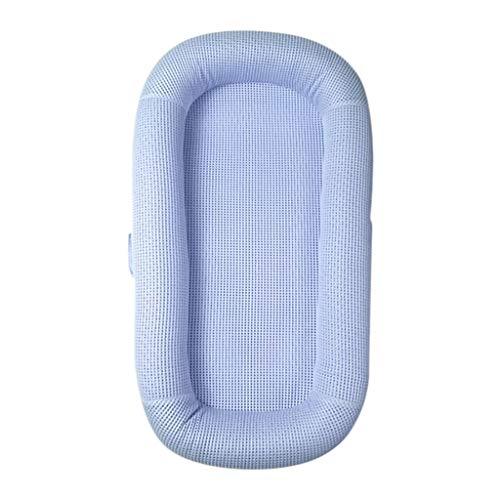 HUYP Cuddle Nest Baby Pod Mat Rampant Bed Bionic Bed Sleeping Baby Nouveau-né Panier De Couchage Lit De Voyage Multi-Fonction 0-2 Ans (Couleur : Bleu, Taille : Awning+Baby Nest)