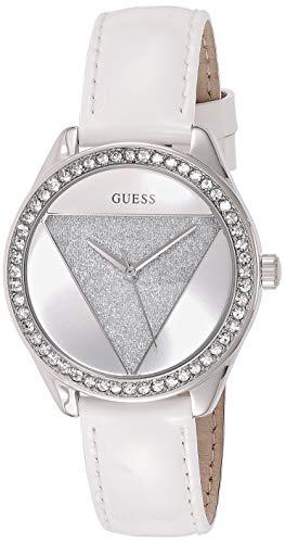 Guess Damen Analog Quarz Uhr mit Leder Armband W0884L2