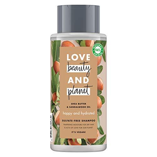 Love Beauty and Planet Happy & Hydrated Champú manteca de karité y sándalo 400ml