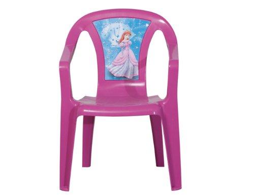 PROGARDEN 46214 Bambini impilabili \'Princess\' Chair Sedia Bambino, 35 x 36,5 x 51,5 cm, Interamente in plastica Rosa