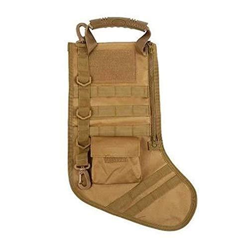 Wrumava Hanging Tactical Christmas Stocking Bag Dump Drop Pouch Utility Storage Bag Military Combat Hunting Magazine Pouches (Khaki)