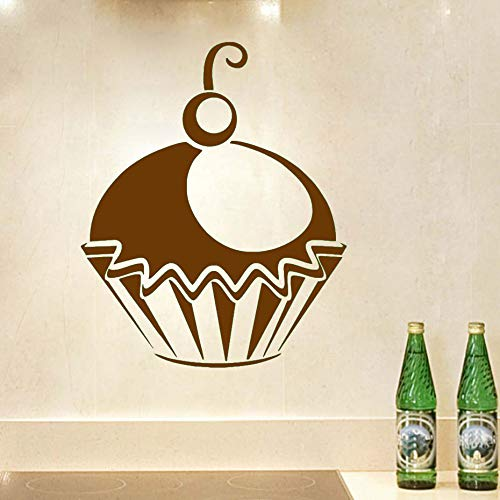 Se ve maravilloso Cupcake Etiqueta de la pared Decoración para el hogar Pegatinas de cocina y salón Etiquetas de la pared de vinilo Patrón póster ~ 1 36 * 44 cm