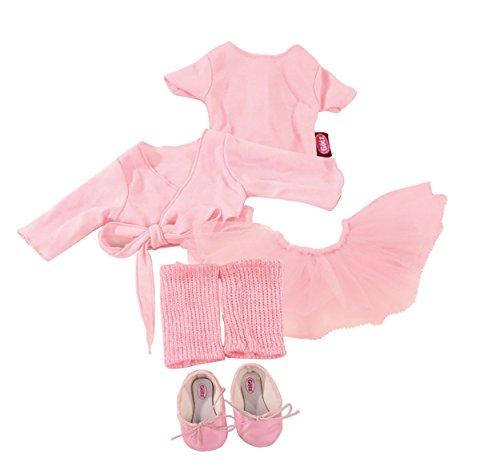 Götz 3401076 Kombination Primaballerina-Balletspaß - Puppenbekleidung Gr. XL - 7-teiliges Bekleidungs- und Zubehörset für Stehpuppen 45 - 50 cm