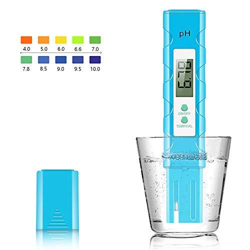 Achort PH Messgerät Wasserqualität Tester/Digitales pH Messgerät mit LCD Display ± 0.01pH Hohe Genauigkeit, 0.00-14.00 Messbereich PH-Meter für Haushalt Trinkwasser Hydroponic Aquarium Spa Pool