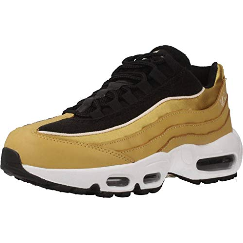Nike Wmns Air Max 95 LX, Scarpe Running Donna, Multicolore (Wheat Gold/Wheat Gold/Black/Guava Ice 701), 37.5 EU