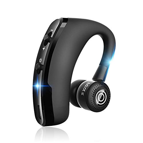 Glumes Bluetooth Headset Bluetooth V4.0 Earpiece Wireless Business Headphones Stereo Earphone with Noise Reduction Mic for Cell Phones, Skype, Office/Work Out/Trucker Driving