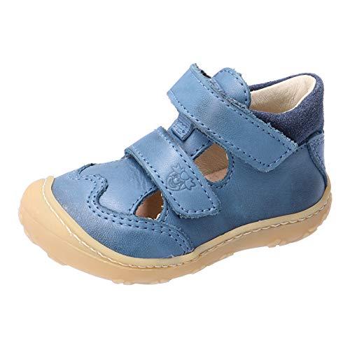 RICOSTA Unisex - Kinder Kletthalbschuhe EDO von Pepino, Weite: Mittel (WMS), Halbschuh Klettverschluss strassenschuh Sneaker,Jeans,19 EU / 3 Child UK