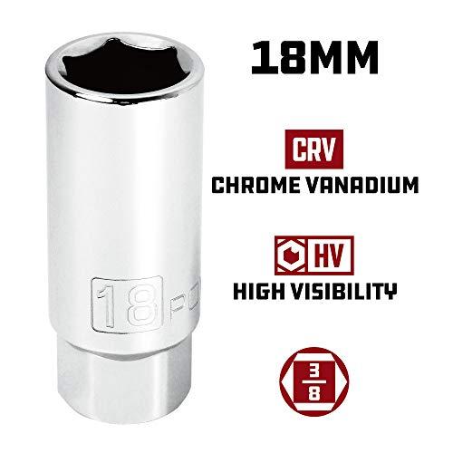 Powerbuilt 3/8-Inch Drive Metric Spark Plug Socket 18mm - 643009