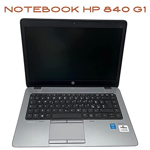 Notebook Elitebook HP 840 G1 Intel Core i5 4300U 1.90Ghz   Ram 8GB DDR3   SSD 240GB   LED 14  1366x768   WEBCAM   Windows 10 Pro + Mouse Wireless e Borsa in Omaggio (Ricondizionato)