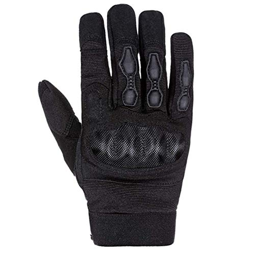 YUANYUAN520 Guantes Aire Libre Deportivos Tactical Full Finger Armor Guantes For Hombres Pantalla Táctil Guantes Al Aire Libre For Guantes De Moto (Color : Black, Size : S)