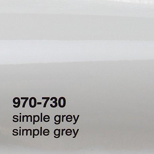 € 20,72 / m2 Oracal 970RA 730 Simple Grijs Grijs Glanzend gegoten professionele autofolie 152 cm breed BEL gratis met luchtkanalen